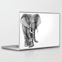 bioworkz Laptop & iPad Skins featuring Ornate Elephant v.2 by BIOWORKZ
