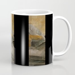 mountain in yellow sky Coffee Mug