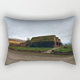 Sunset Panorama from the Old Farmhouse at Hofsstaðir in Northern Iceland Rectangular Pillow