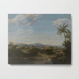 Brazilian Landscape, Frans Jansz Post, 1670 - 1680 Metal Print