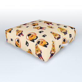 gritty patterns Outdoor Floor Cushion