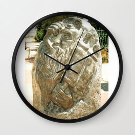Father by Shimon Drory Wall Clock