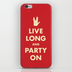 Live Long and Party On (Red) iPhone & iPod Skin