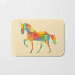 Fractal Geometric Unicorn Bath Mat