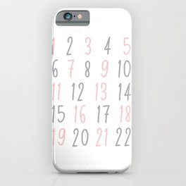 Numbers - Pink iPhone Case