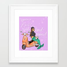 Leslie Knope Compliments: Land Mermaid Framed Art Print