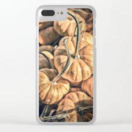 Autumn Grunge Clear iPhone Case