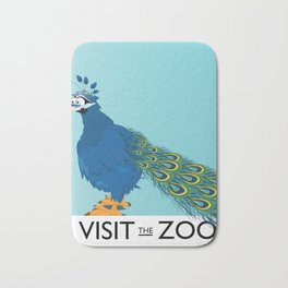 Visit the Zoo Peacock edition Bath Mat