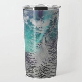 Owl In The Aurora Borealis Travel Mug