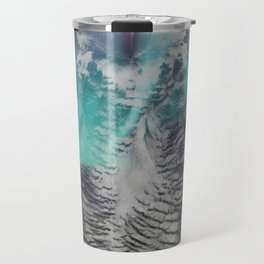 Owl In The Aurora Borealis Travel Mug