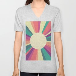 70s Retro Sun Sunshine Unisex V-Neck