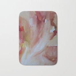 crimson ochre oil abstract Bath Mat