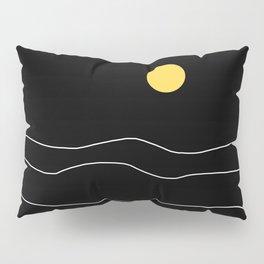 Black Ocean Pillow Sham