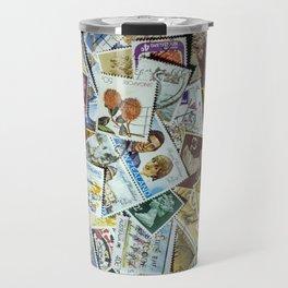 Postage Stamp Collection Travel Mug