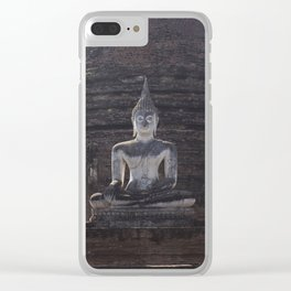 Wat Sa-Si Buddha at Sukhothai Historical Park Clear iPhone Case