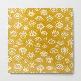 Mystic Eyes – Marigold Palette Metal Print