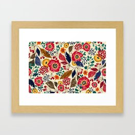 Botanical Block Print Framed Art Print