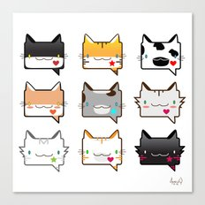 Convo Cats! Canvas Print