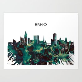 Brno Skyline Art Print