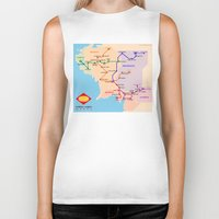 middle earth Biker Tanks featuring Middle-Earth metro map by tuditees