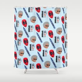 red hero Shower Curtain