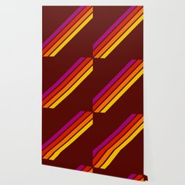 Bormo - Pink Red Orange Yellow Stripes Wallpaper