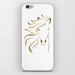 Golden Horse Drawing iPhone Skin