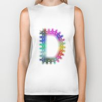 letter Biker Tanks featuring Letter D by David Zydd