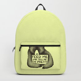 Feed Me And Tell Me I'm Pretty (Yellow) Backpack
