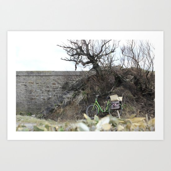The lost bicycle Art Print