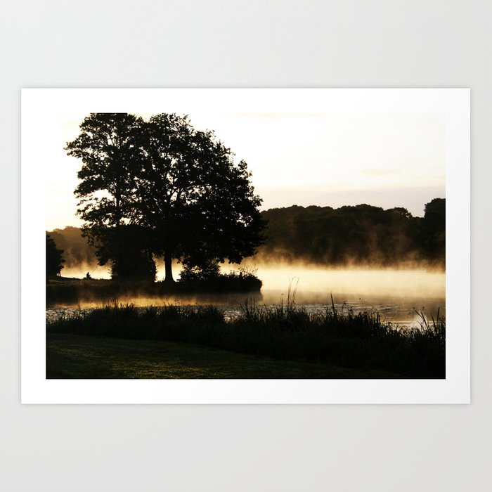 Morning Lake Scene Art Print