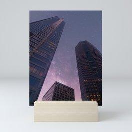 Sky-scraping to Space (Purple) Mini Art Print
