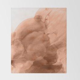 Terra watercolor Throw Blanket