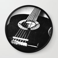 guitar Wall Clocks featuring Guitar by Falko Follert Art-FF77