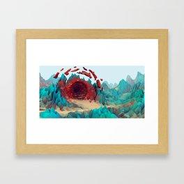 The Red Portal Framed Art Print