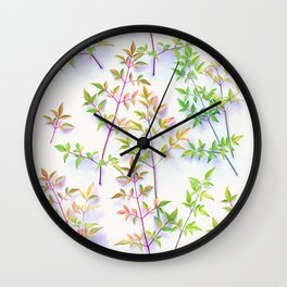 Leaves in the Light Wall Clock