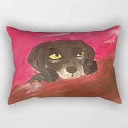 Jake, the Baby Labrador Rectangular Pillow