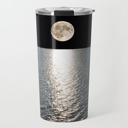 Ocean Moonlight   Moon Photography   Stars and Ocean   Night sky Travel Mug