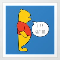 winnie the pooh Art Prints featuring WINNIE THE POOH by DrakenStuff+