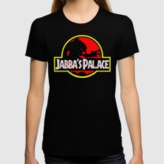 Jabba's Jurassic Palace SMALL Black Womens Fitted Tee