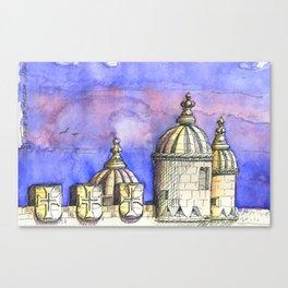 belem tower . torre de belem Canvas Print