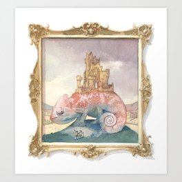 Camelot on a Chameleon Art Print