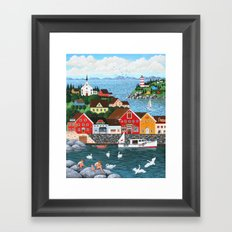 Swan's Cove Framed Art Print