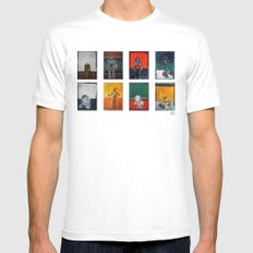 Rothbots Mens Fitted Tee MEDIUM White