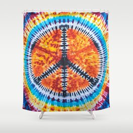 Tie Dye Peace Sign Shower Curtain