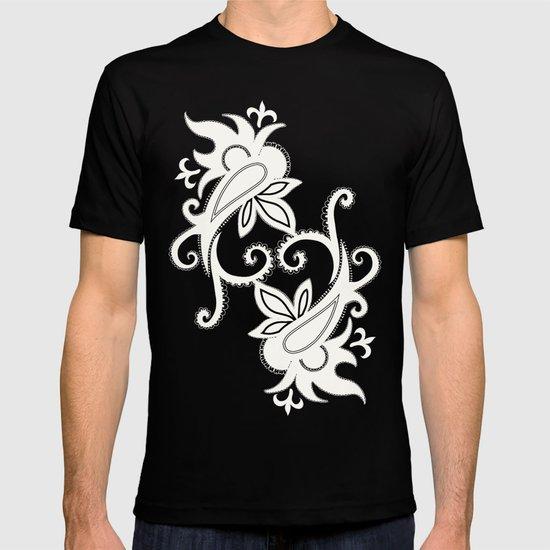 Paisley: Blue Combo T-shirt