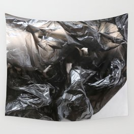 black plastic 02 Wall Tapestry