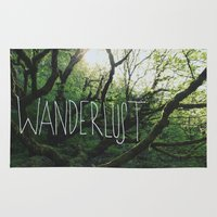 wanderlust Area & Throw Rugs featuring Wanderlust by Leah Flores