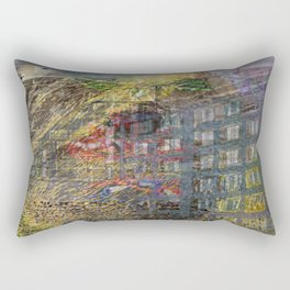 Keep Calm And Keep Buggering On (or This Civilization's Saving Grace, Redux) Rectangular Pillow