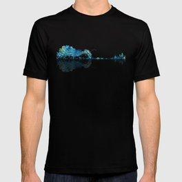 Nature Guitar - Watercolor Blues T-shirt